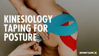 POSTURE kinesiology tape application