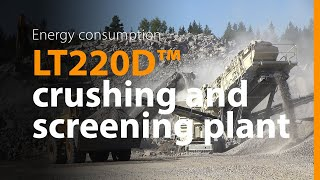 Rock crushing and screening pl