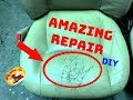 How To  REPAIR THE WORST LEATHER & VINYL Seats...Never Seen Before