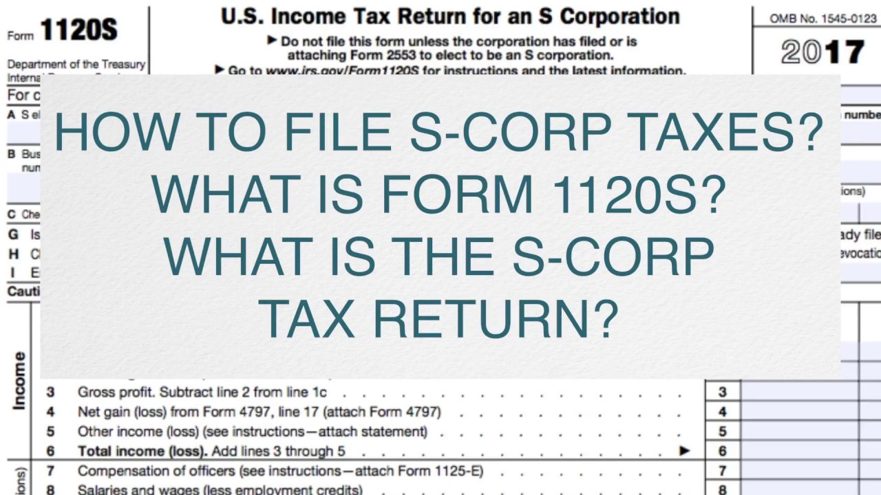Form 2553 s-corp form 1120s