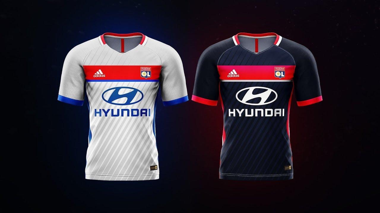 00a0b04fd Olympique Lyonnais jersey concept - Speedart - YouTube