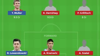 BAY vs HOF Football Bundesliga Dream11 Team With Playing11