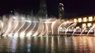 Dubai Mall Burj Al Khalifa Fountain Dancing  UHD 4K