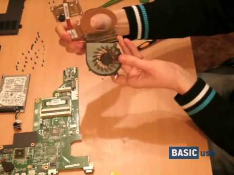 How to clean cooling system of HP 635: cleaning cooling module and replacement of thermal paste