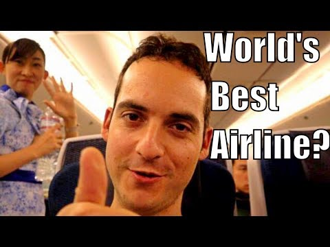 ANA All Nippon Airways Economy Class Review! (FLYING TO TOKY