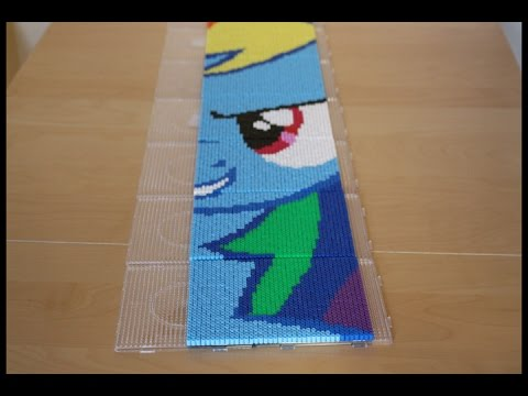 Perler Bead My Little Pony Rainbow Dash Time Lapse Youtube
