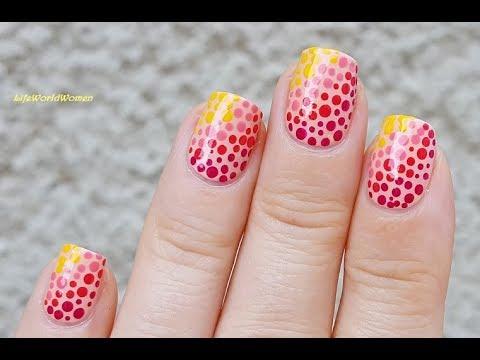 GRADIENT DOTTICURE NAIL ART Over Peach Nails thumbnail