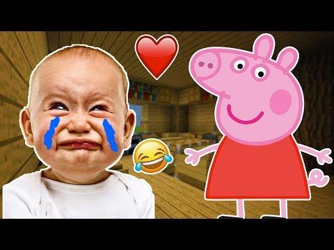 MINECRAFT JE TROLL UN KIKOO DE 7 ANS AVEC PEPPA PIG IL PLEURE !! Troll minecraft | MINECRAFT PS4