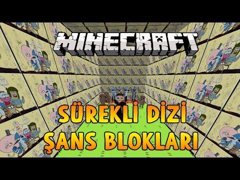SÜREKLİ DİZİ ŞANS BLOKLARI! - Minecraft REGULAR SHOW DÜNYASI!