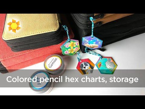 Colored Pencil Hex Charts + Jumpstart Class Prep!