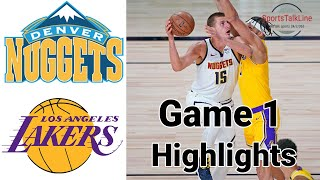 Nuggets vs Lakers HIGHLIGHTS Full Game | NBA Playoff Game 1