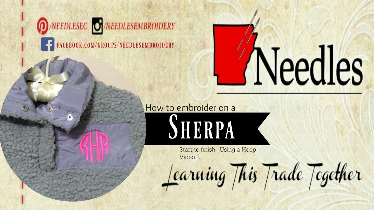 Monogrammed Sherpa | Video 2 with Hoops | Needles How To