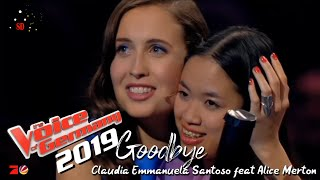 Claudia Emmanuela Santoso feat. Alice Merton - Goodbye Lyrics (From The Voice Of Germany)