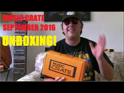 MUSIC CRATE SEPTEMBER 2016 Unboxing!