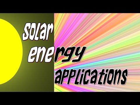 Solar energy 101 applications