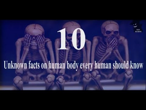 unknown Facts About The Human Body 2017