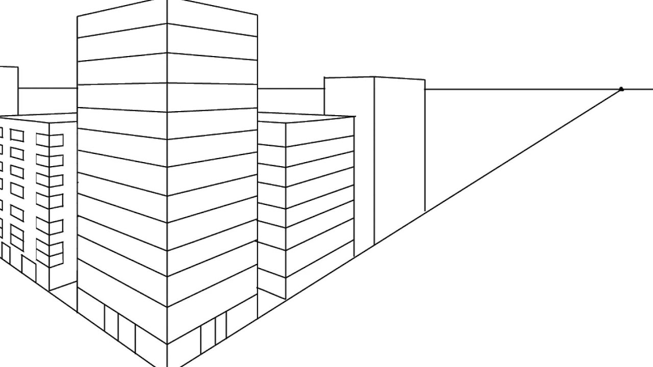 Constructing A Cityscape In Two Point Perspective