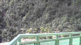 Teleférico y Tirolesas, Divisadero, México 30/Dec/2013 メキシコ、銅渓谷のケーブルカーと綱渡り