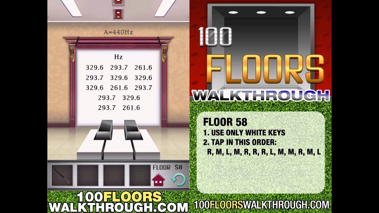 100 Floors Walkthrough Level 58 Skill Floor Interior