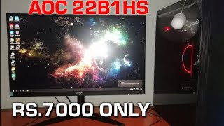 Best IPS Monitor under 7000 AOC 22b1hs monitor review Full hd ips panel Technomit