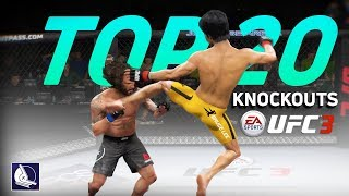 EA Sports UFC 3 - Top 20 Best Knockouts (Legendary Edition ft. Bruce Lee)