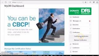 DRI'S CBCP Certification