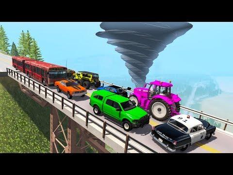 Beamng drive - Breakable Car Bridge Crashes #3  