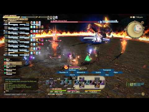 FINAL FANTASY XIV: A Realm Reborn Ifrit Hard Mode (PS4 Gameplay)