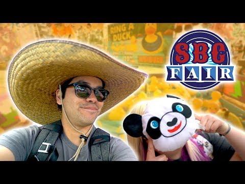 Crazy carnival games fun at the San Bernardino County Fair!