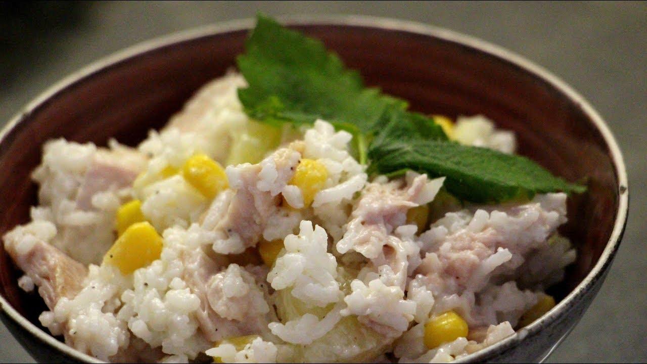 Salatka Z Ryzem Wedzonym Kurczakiem I Ananasem Idealna Do Pracy I Szkoly Oldschoolowy Przepis