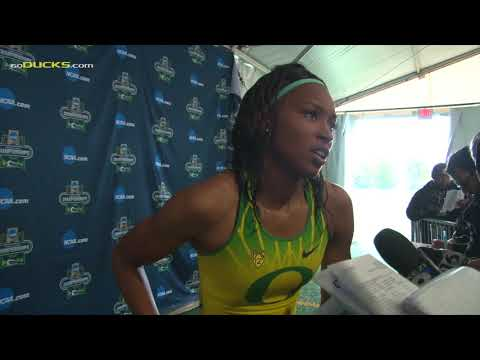 Ariana Washington After Running 4x100 M in NCAA Championships