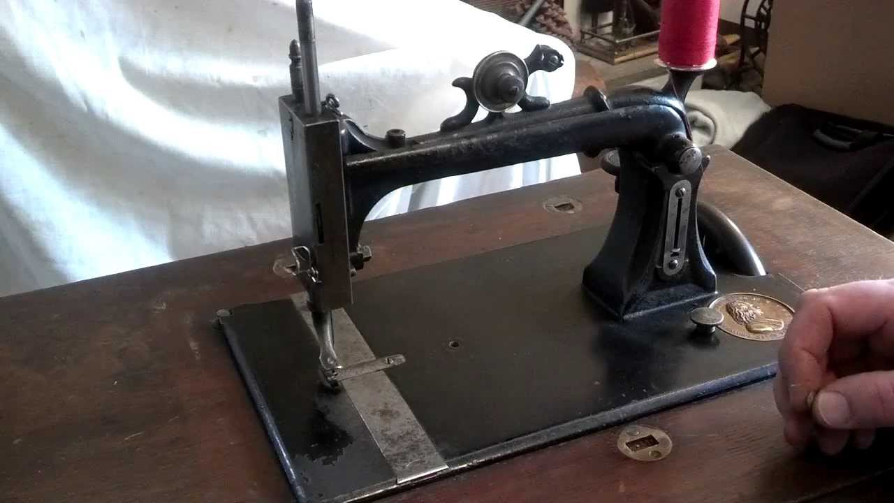How to Thread an Antique Howe Weed Model B Treadle Sewing