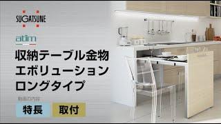 収納テーブル金物 エボリューション ロングタイプ