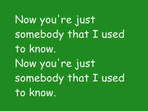 Gotye ft. Kimbra - Somebody that I used to know with...