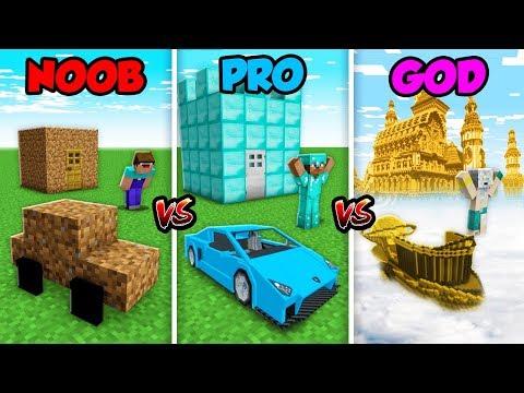 Minecraft NOOB vs. PRO vs. GOD: LIFE in Minecraft! (Animation)