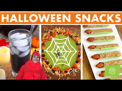 Healthy Halloween Party Food & Snacks! Easy Recipes!