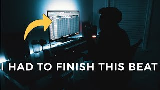 I HAD TO FINISH IT!! Making a Trap Beat From Scratch FL Studio