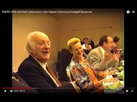 TOKYO 1993 with Rolf Liebermann, Toho Gakuen School and Karajan Akademie