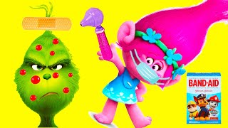 Dreamworks Trolls World Tour Play DIY Play-Doh Doctor When Branch is Sick  #withme