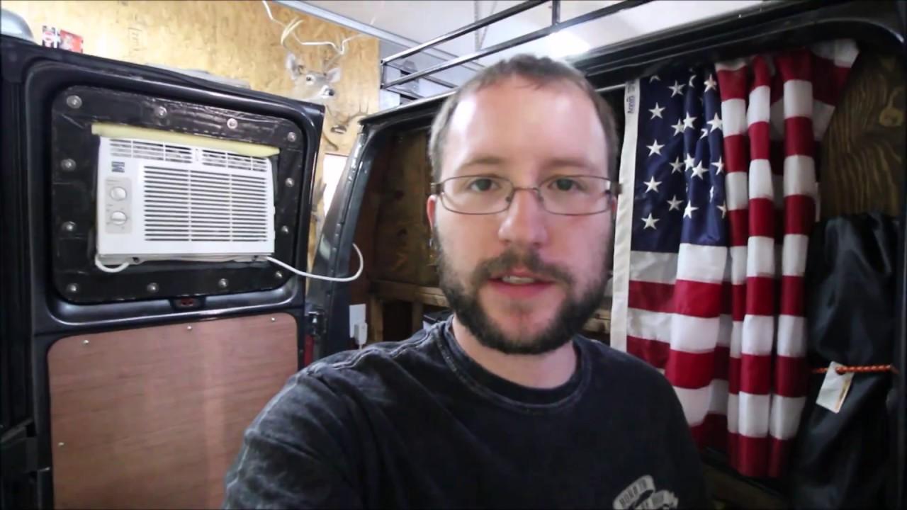 Camper Van Window Unit AC Install COMPLETE!