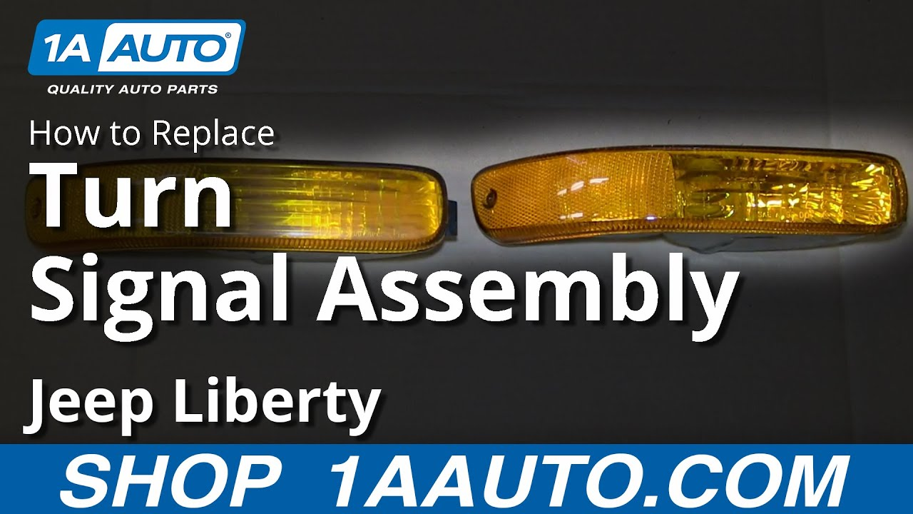 How To Install Replace Broken Front Parking Light 2002 04 Jeep Liberty Bar Wiring Harness