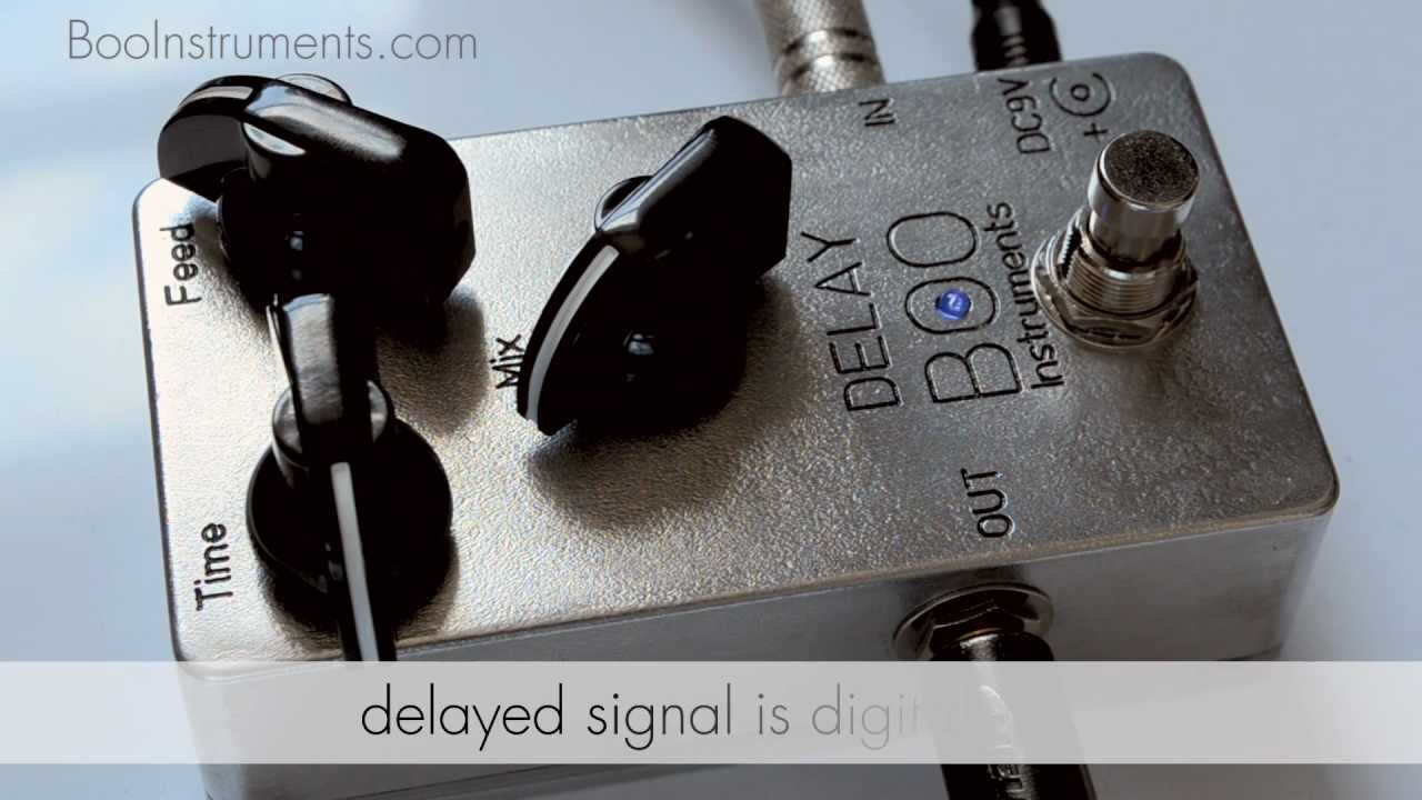 boo instruments boutique delay guitar pedal true bypass demo review hand made in england uk