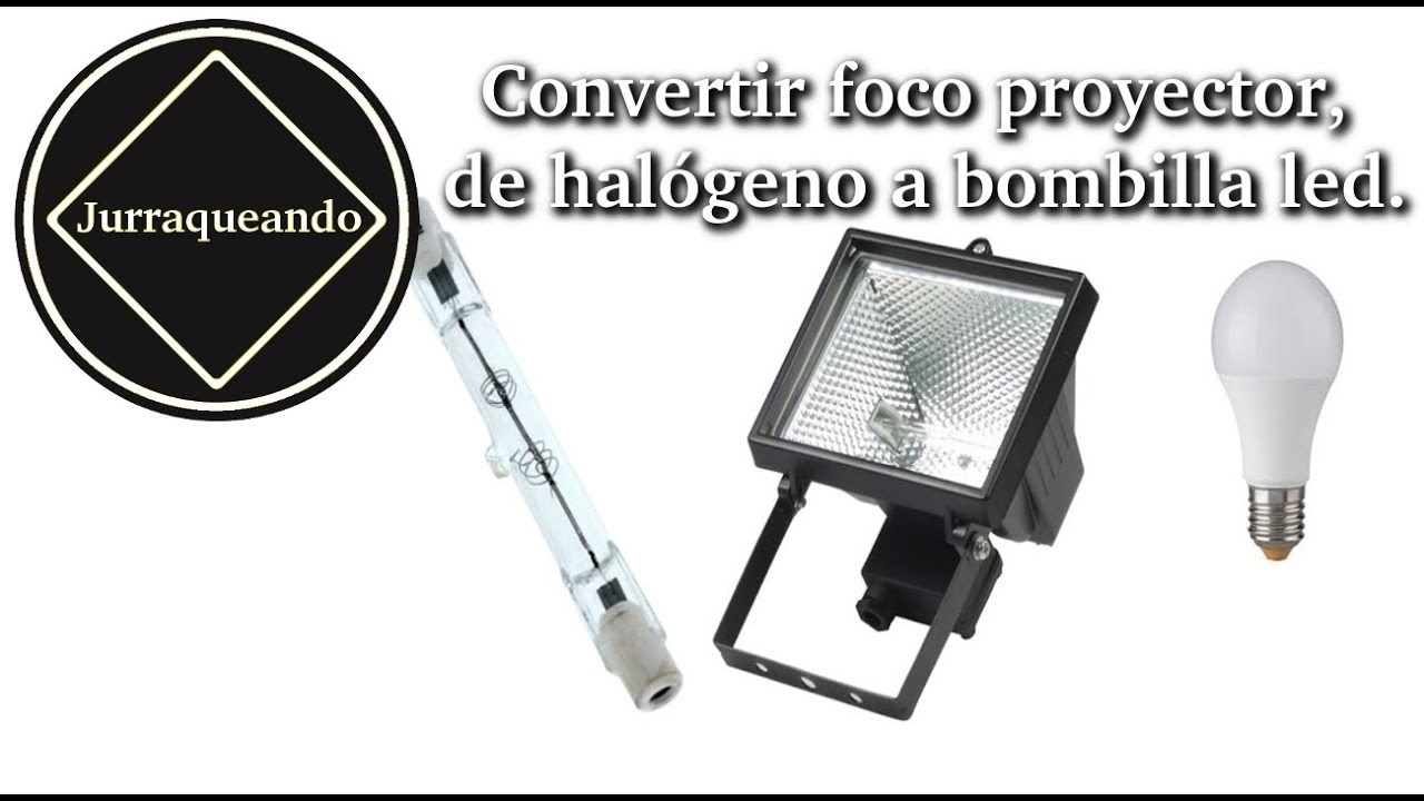 Convertir bombilla led foco halógeno a proyectorde RqAjc34L5