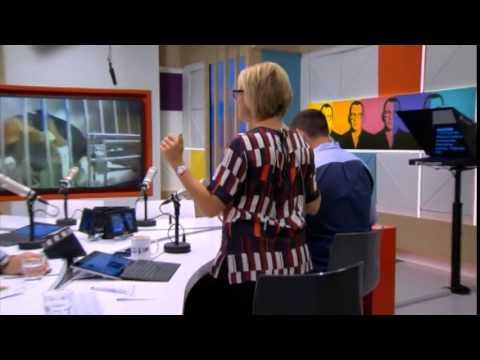 Hilary Barry twerking during ad break