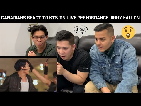 "CANADIANS REACT TO BTS Performs ""ON"" at Grand Central Terminal for The Tonight Show w/ JIMMY FALLON"