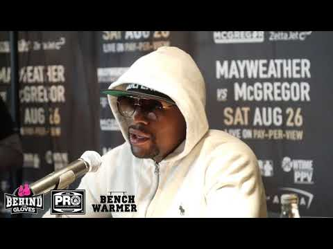 MAYWEATHER ADDRESSES ALLEGED RACIST COMMENTS BY CM, DISCUSSES PRESS TOUR - PRE LONDON PRESS CONF.