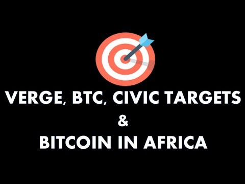 TARGET POINTS IN VERGE, BTC, CIVIC & BITCOIN IN AFRICA!!!