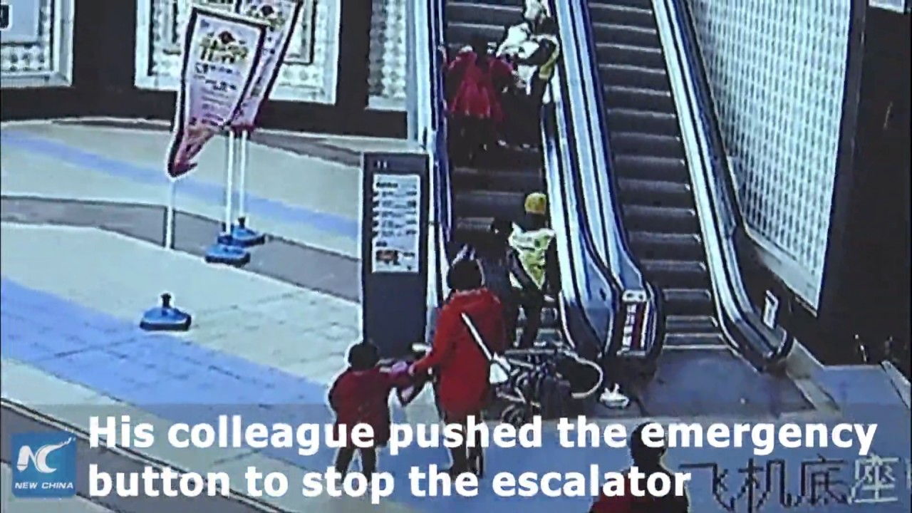 Are you putting your baby at risk?   Dangers of improperly using a stroller on an escalator.