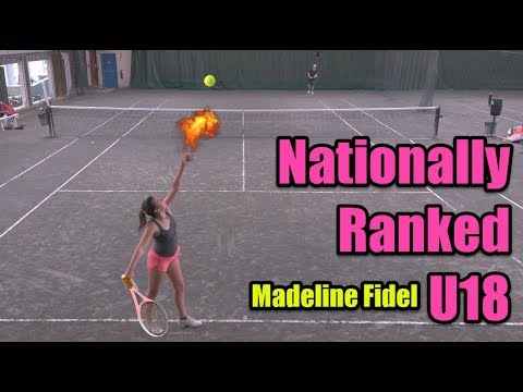 Tennis with Top 300 Female Recruit U18 - Madeline Fidel