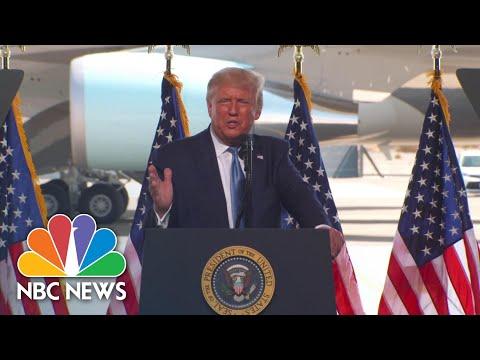 Trump Criticizes Michelle Obama's 'Divisive' DNC Speech | NBC News NOW